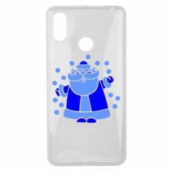 Чехол для Xiaomi Mi Max 3 Прикольный дед мороз