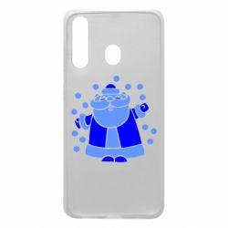 Чохол для Samsung A60 Прикольний дід мороз