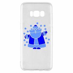 Чохол для Samsung S8 Прикольний дід мороз