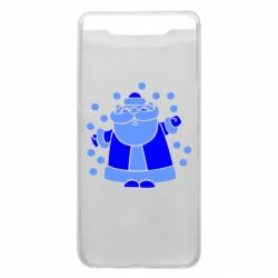 Чохол для Samsung A80 Прикольний дід мороз