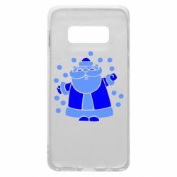 Чохол для Samsung S10e Прикольний дід мороз