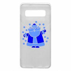 Чохол для Samsung S10 Прикольний дід мороз