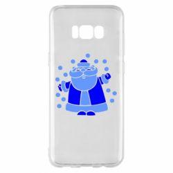 Чохол для Samsung S8+ Прикольний дід мороз