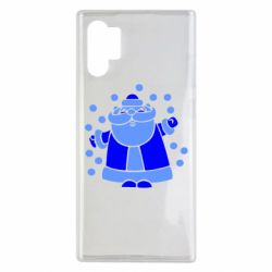 Чохол для Samsung Note 10 Plus Прикольний дід мороз