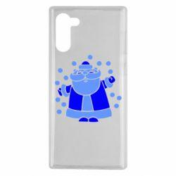Чохол для Samsung Note 10 Прикольний дід мороз