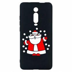 Чехол для Xiaomi Mi9T Прикольный дед мороз