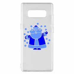 Чохол для Samsung Note 8 Прикольний дід мороз