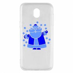 Чохол для Samsung J5 2017 Прикольний дід мороз