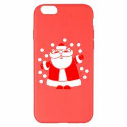 Чохол для iPhone 6 Plus/6S Plus Прикольний дід мороз