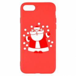 Чохол для iPhone 7 Прикольний дід мороз