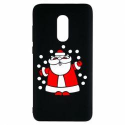 Чехол для Xiaomi Redmi Note 4 Прикольный дед мороз