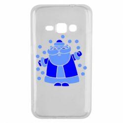 Чохол для Samsung J1 2016 Прикольний дід мороз