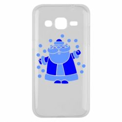 Чохол для Samsung J2 2015 Прикольний дід мороз