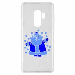 Чохол для Samsung S9+ Прикольний дід мороз