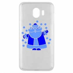 Чохол для Samsung J4 Прикольний дід мороз