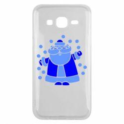 Чохол для Samsung J5 2015 Прикольний дід мороз
