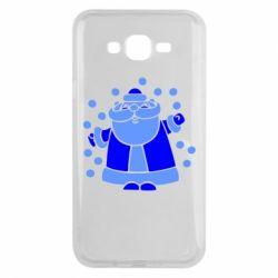 Чохол для Samsung J7 2015 Прикольний дід мороз