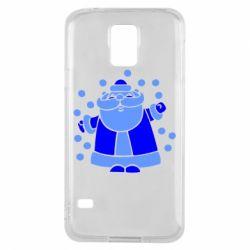 Чохол для Samsung S5 Прикольний дід мороз