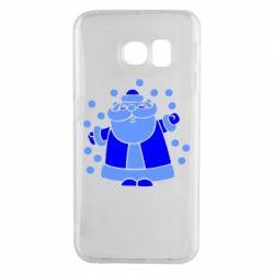Чохол для Samsung S6 EDGE Прикольний дід мороз