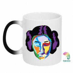 Кружка-хамелеон Princess Leia Colorful Art