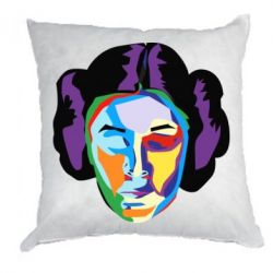 Подушка Princess Leia Colorful Art