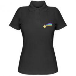 Жіноча футболка поло Print Mabel star and rainbow