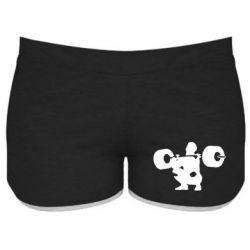 Женские шорты Приседания со штангой - FatLine