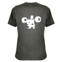 Камуфляжная футболка Приседания со штангой - FatLine