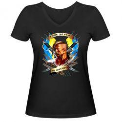 """Женская футболка с V-образным вырезом Прислів'я """"рабів до раю не пускають"""""""