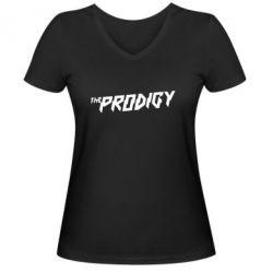 Женская футболка с V-образным вырезом Prodigy - FatLine