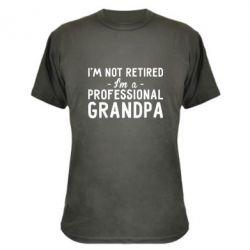 Камуфляжная футболка Professional Grandpa