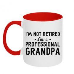 Кружка двоколірна Professional Grandpa