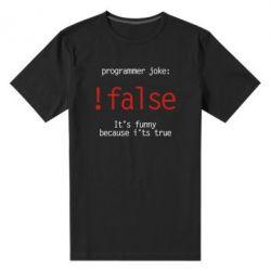 Мужская стрейчевая футболка Programmer joke: !false
