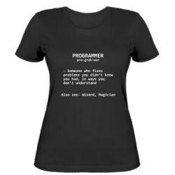 Женская футболка Programmer