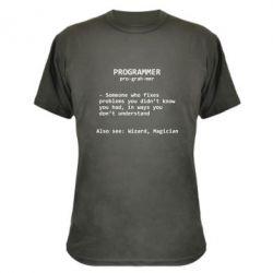Камуфляжная футболка Programmer