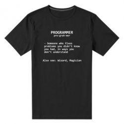 Мужская стрейчевая футболка Programmer