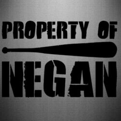 Наклейка Property of negan