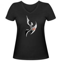 Женская футболка с V-образным вырезом Protoss Symbol