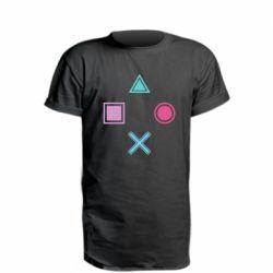 Удлиненная футболка PS vector