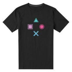 Мужская стрейчевая футболка PS vector