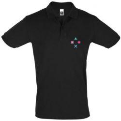 Мужская футболка поло PS vector