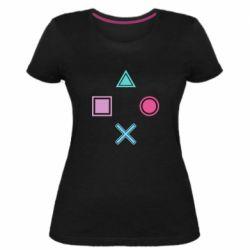 Женская стрейчевая футболка PS vector