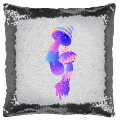 Подушка-хамелеон Грибы, еда