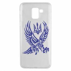 Чохол для Samsung J6 Птах та герб