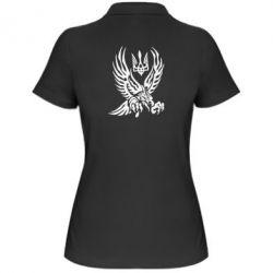 Женская футболка поло Птах та герб - FatLine