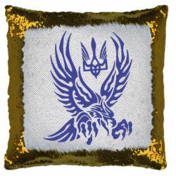 Подушка-хамелеон Птах та герб
