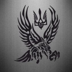 Наклейка Птах та герб - FatLine