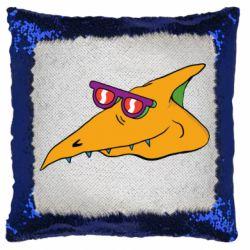 Подушка-хамелеон Pterodactyl in glasses