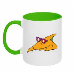 Кружка двоколірна 320ml Pterodactyl in glasses