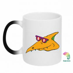Кружка-хамелеон Pterodactyl in glasses